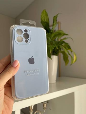 iPhone 12 Pro Max Silicone Case Full Camera /lilac cream/
