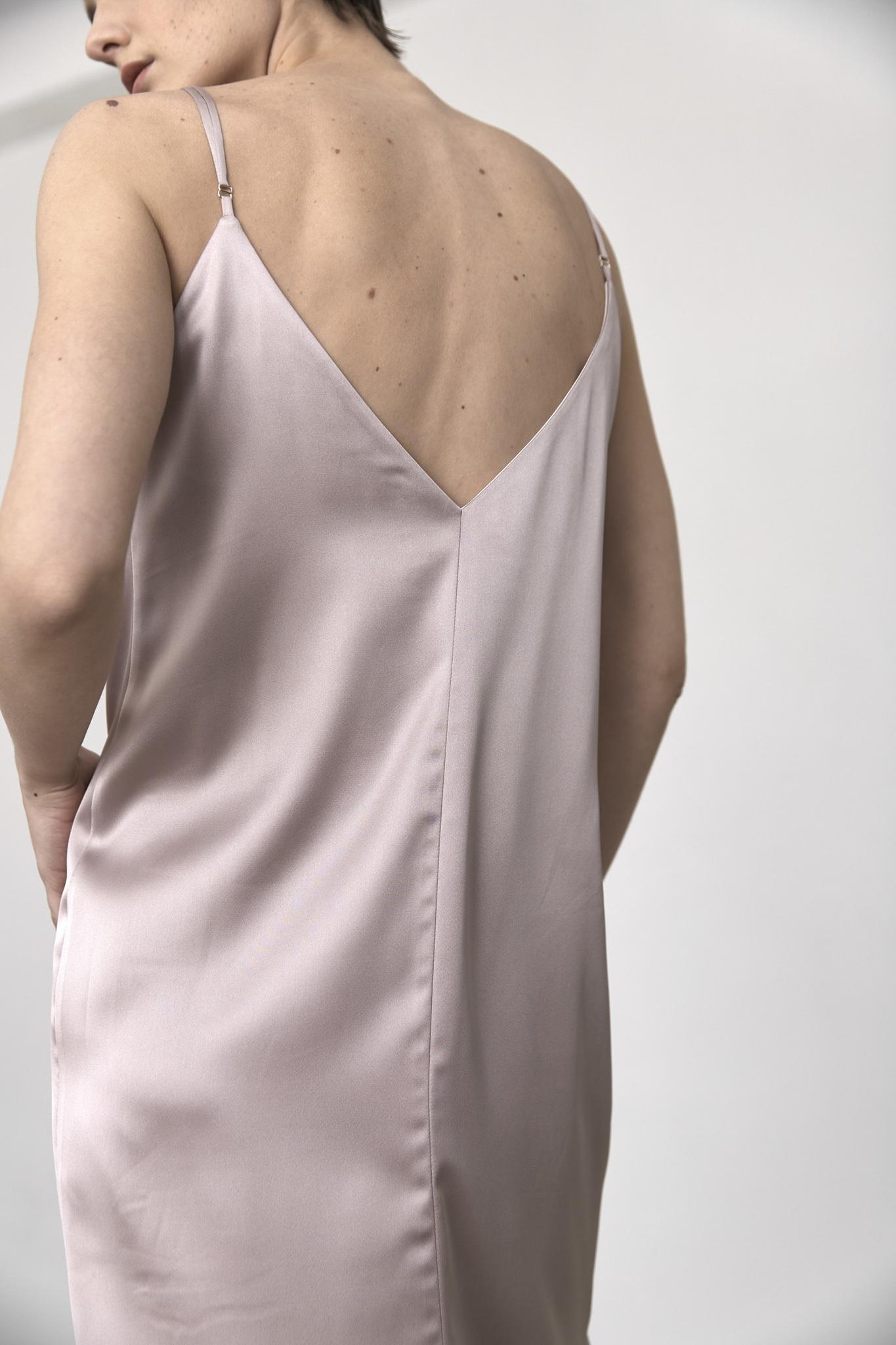 Двустороннее платье-комбинация, черный/пудра