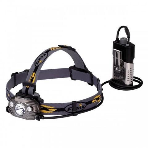 Фонарь светодиодный налобный Fenix HP30R серый, 1750 лм, аккумулятор