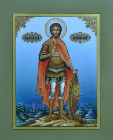 Икона святой Виктор на дереве на левкасе мастерская Иконный Дом