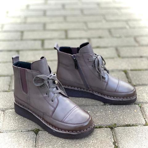 Madella Ботинки XUS-02444-3L-KB фиолет кожа