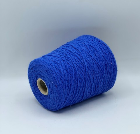 Бобинная пряжа G.G.FILATI Bubbly (пр.Италия), art.ANGOR BUBBLY, 250 м/100гр, 70% ангора 10%шерсть 20%полиамид, цвет-Насыщенно-голубой с синими бусинами. арт-10551