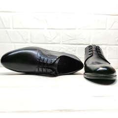 Классические туфли мужские черные Ikoc 3416-1 Black Leather.