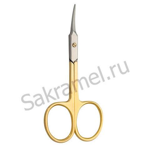 Ножницы для кожи изогнутые CS-1/7-D (CVD)(позолоченные)