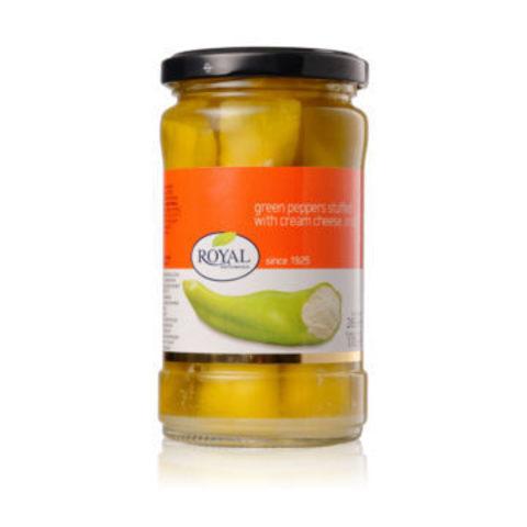 Перец зеленый фаршированный сыром в масле Royal Mediterranean 285 гр