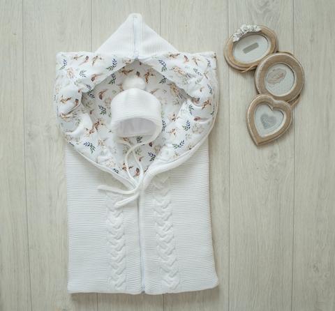 Вязаное одеяло трансформер, демисезонное
