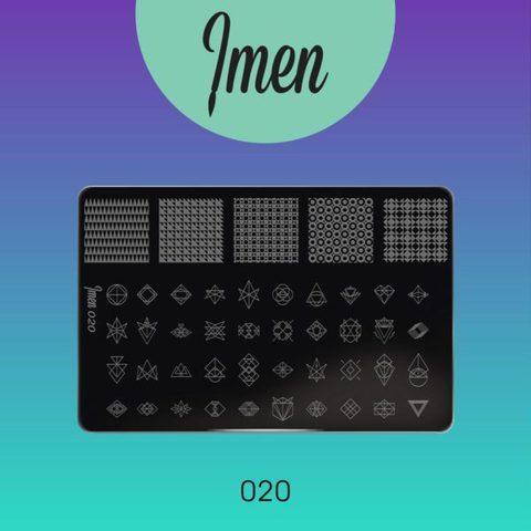 Пластина Imen для стемпинга #020