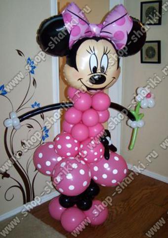 Минни Маус из шаров с юбкой