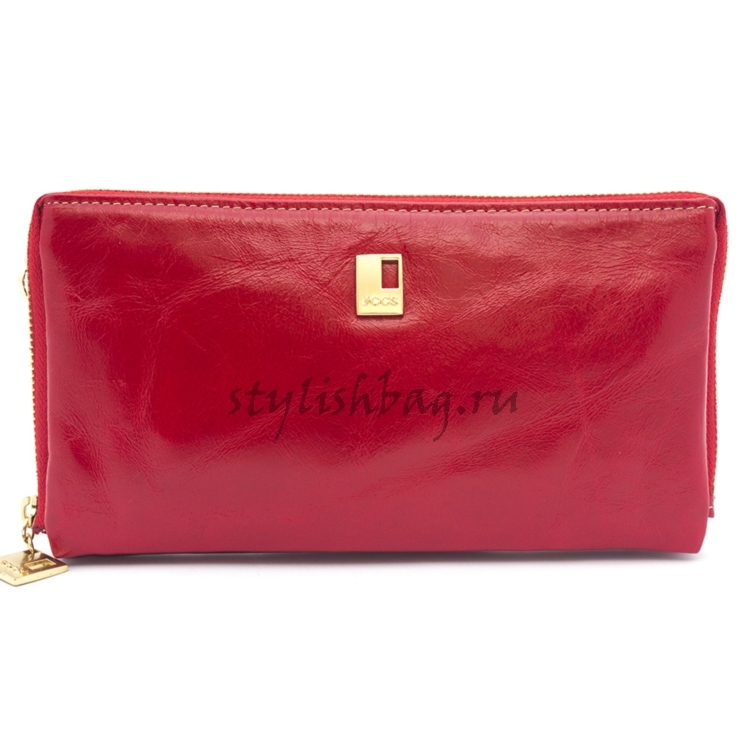 Красный женский кошелек на молнии JCCS js-9917