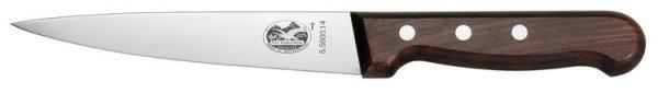 Кухонный нож Victorinox для разделки и обвалки мяса (5.5600.14) длина лезвия 14 см., деревянная рукоять - Wenger-Victorinox.Ru