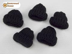 Декор шапочка вязаная черная