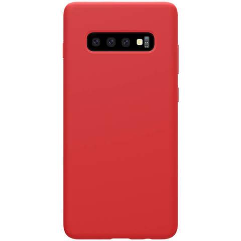 Силиконовый бампер Nillkin Flex Pure для Samsung Galaxy S10 (Карсный)