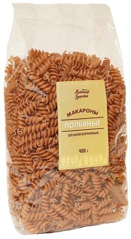 Макароны из полбы Спирали, 400 гр. (Житница Здоровья)