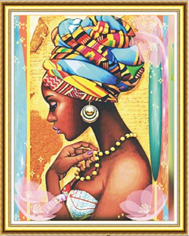 Алмазная Мозаика 40x50 Девушка в профиль (арт. WXSA1963)