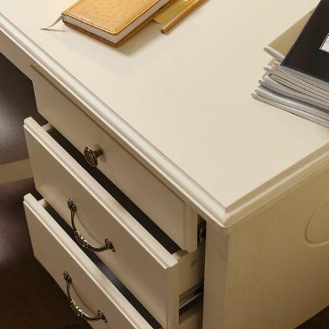 Стол письменный Айно 8 (белый скандик)