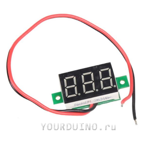 Модуль вольтметра 3 цифры