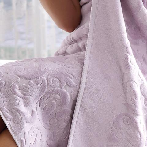 Набор полотенец  Baroc (лиловый)  3 пр 30х50 50Х100 и  90Х150   TIVOLYO HOME Турция