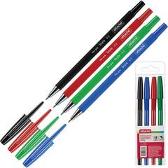 Набор шариковых ручек Attache Style 4 цвета (толщина линии 0.5 мм)