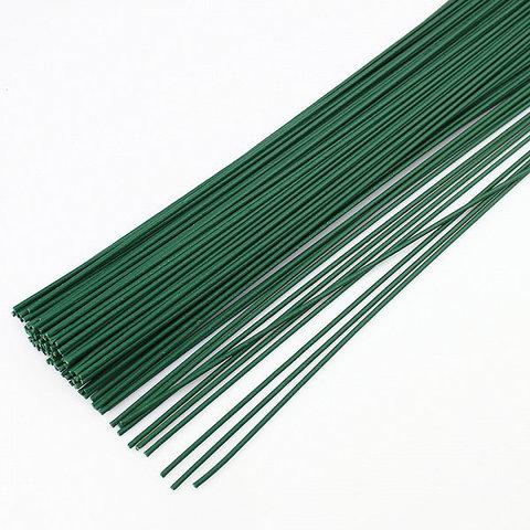 Проволока для цветов зеленая 0,3мм 20шт