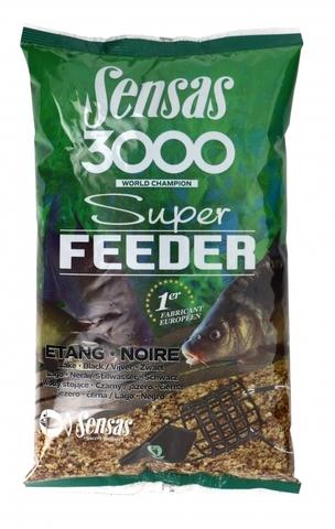 Прикормка Sensas 3000 Super FEEDER LAKE Black 1кг