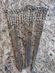 Шампур нерж сталь ручка 3*8*50 мм (мин. заказ 5 шт - пачка), 2 сорт