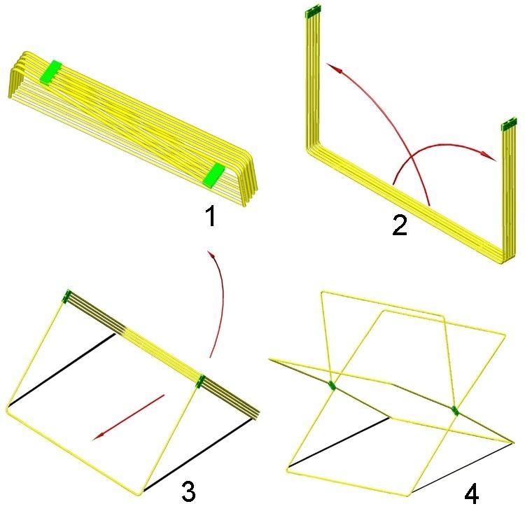 Схема сборки торговой палатки Митек Кабриолет 2.5х2.0 Ø18 мм
