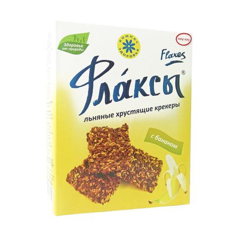 Флаксы льняные крекеры с бананом, 150 гр. (Компас Здоровья)