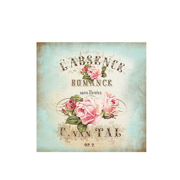 Водорастворимая бумага Винтажные открытки/Розы