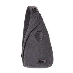 Рюкзак Swissgear, с одним плечевым ремнем, cерый, 25х15х45 см, 7 л