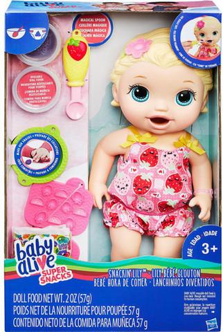 Кукла Hasbro Baby Alive Малышка Блондинка и снеки Baby Alive