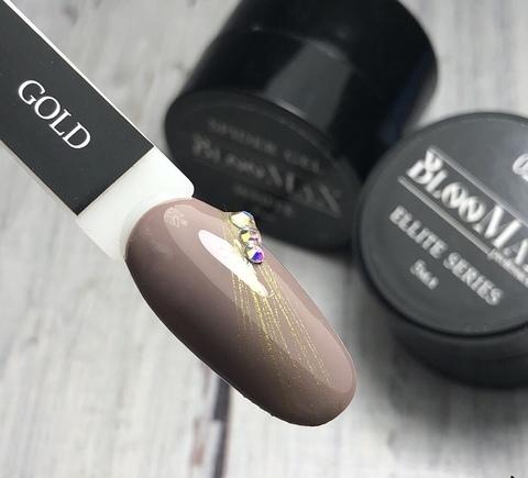 Гель краска Spider gel, паутинка золото, 5 мл