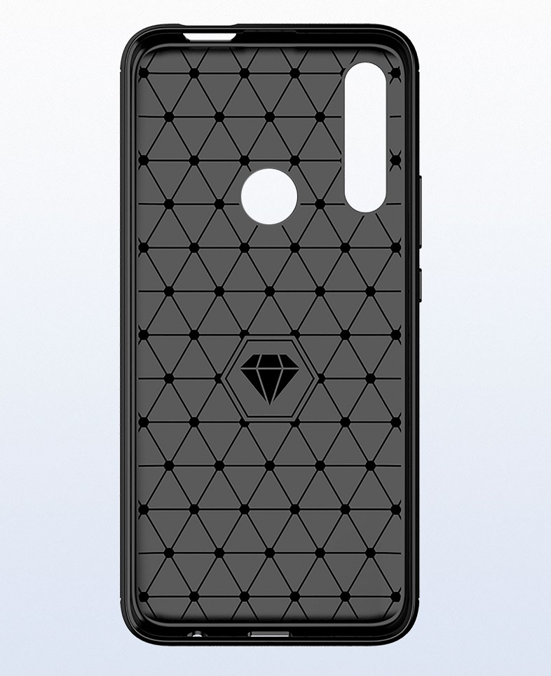 Чехол красного цвета на Honor 9X (9X Pro), серия Carbon от Caseport