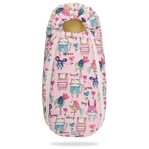 Зимний конверт для новорожденного на выписку и прогулку Baby XS Рисунки на Розовом фоне