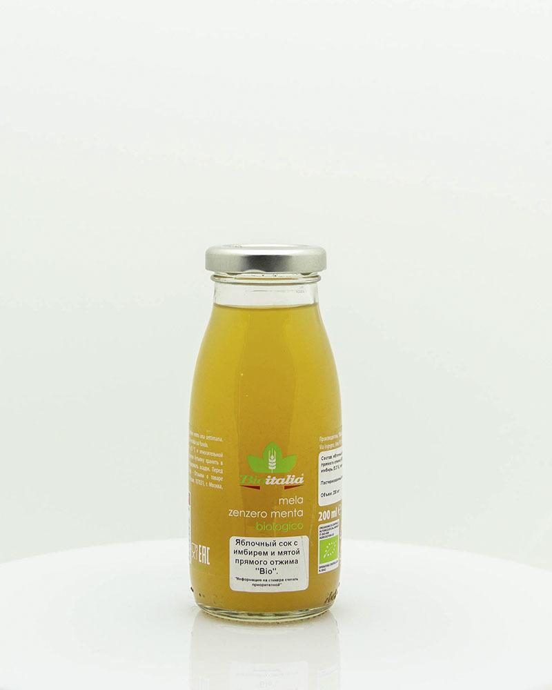 Яблочный сок с имбирем и мятой Bioitalia 200 мл.