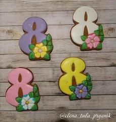 8-ка с цветами №2