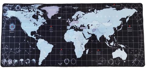 Коврик для мыши большой XXL Карта мира