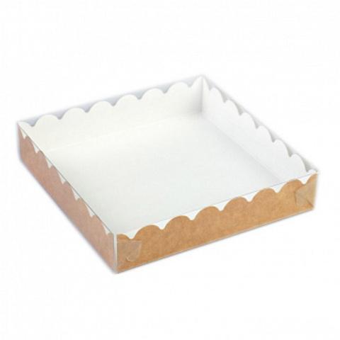 Коробка для печенья и пряников крафт, 15,5*15,5*3,5см