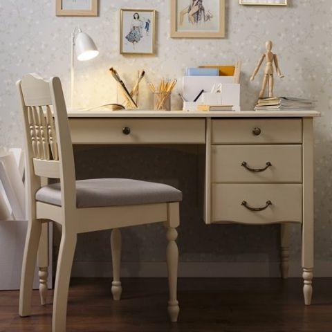 Письменный стол для школьника Айно 8 (белый скандик)