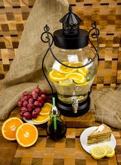 Стеклянный диспенсер для напитков «Кантри Фонарь», 5 литров, фото 1