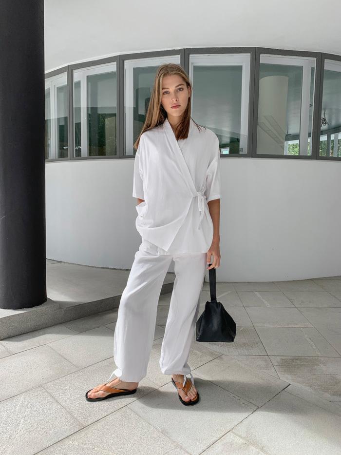 Блуза-кимоно Akane в пижамном стиле