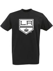 Футболка с однотонным принтом НХЛ Лос-Анджелес Кингз (NHL Los Angeles Kings) черная 001