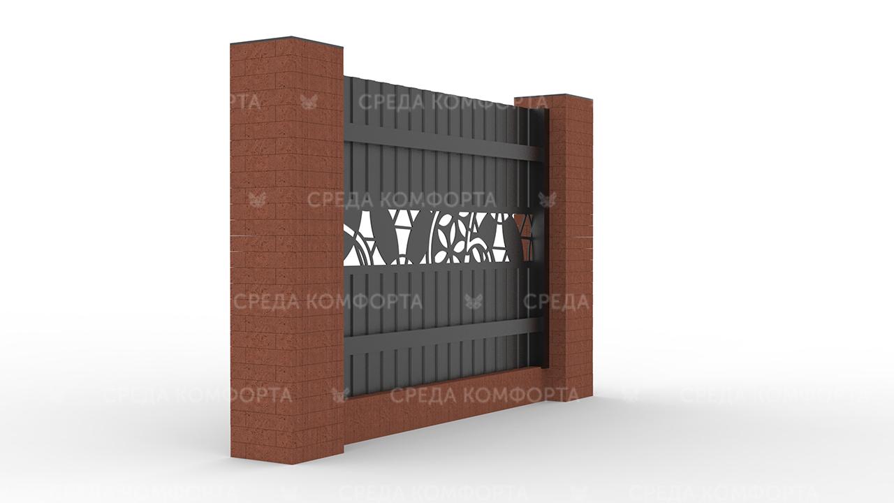 Забор из профлиста 2500х2000 мм ZBR0021