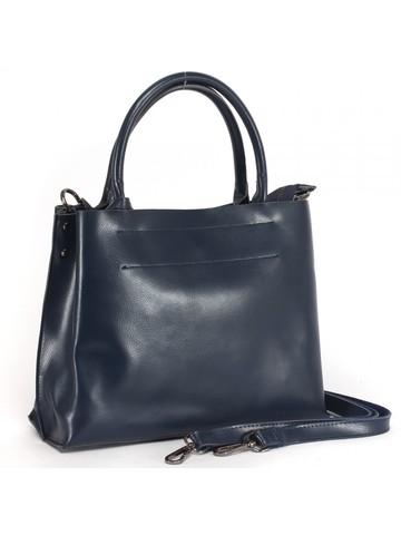 Синяя сумка из натуральной кожи