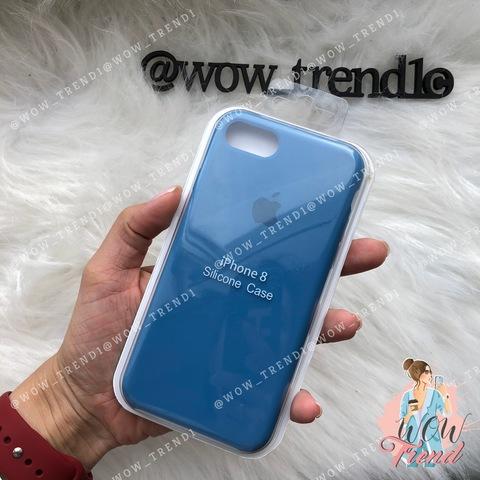 Чехол iPhone 7/8 Silicone Case /denim blue/ джинс 1:1