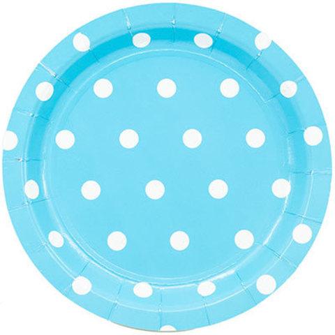 1502-3918 Тарелки малые Горошек голубые, 17 см., 6 шт