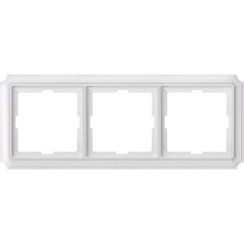 Рамка на 3 поста. Цвет Полярный белый. Merten. Antique System Design. MTN483319