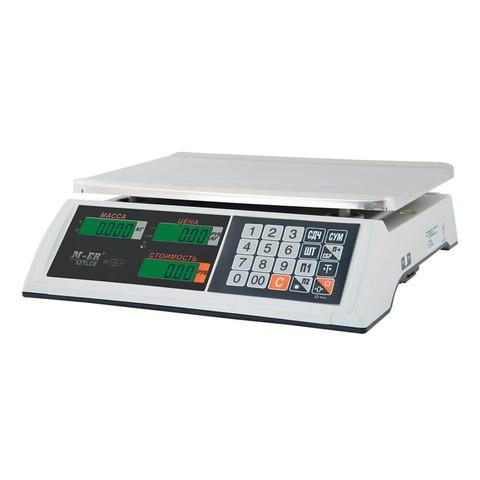 Весы торговые настольные Mertech M-ER 327AC-15.2 Ceed, LCD/LED, АКБ, 15кг, 2гр, 325х230, с поверкой, без стойки