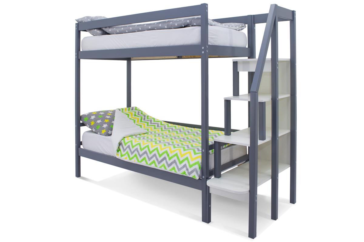 Двухъярусная кровать «Svogen» графит
