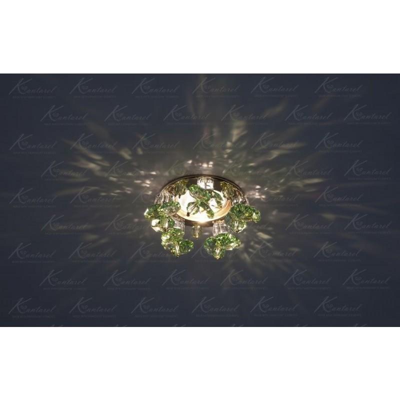 Встраиваемый светильник Kantarel Twisted Bell CD 017.3.2 lt peridot