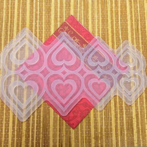 Силиконовая форма №357 Сквозные сердечки все размеры 8 ячеек